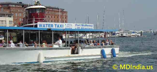 baltimore Water Taxi image © MDIndia.us