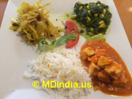 Bethesda Curry Kitchen Veg Curry © MDIndia.us