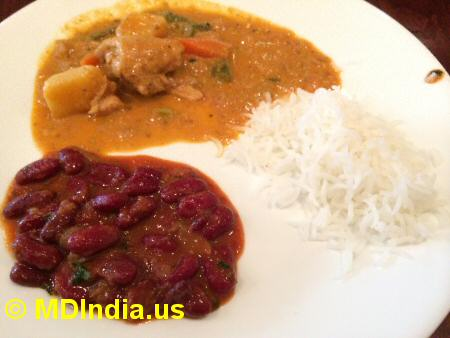 Spice Xing Rockville Chicken & Rajma © MDIndia.us