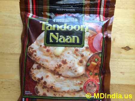 Trader Joe's Annapolis Tandoori Naan Packet